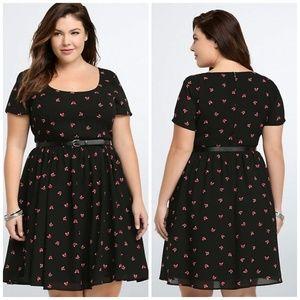 torrid Dresses - Torrid Fox Print Skater Dress size 22
